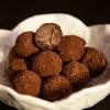 trufas de chocolate com aguardente de medronho - quinta das olelas