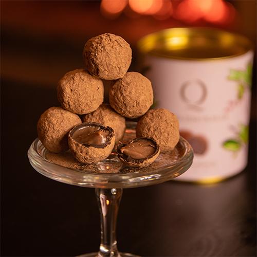 trufas de chocolate com licor de medronho - quinta das olelas